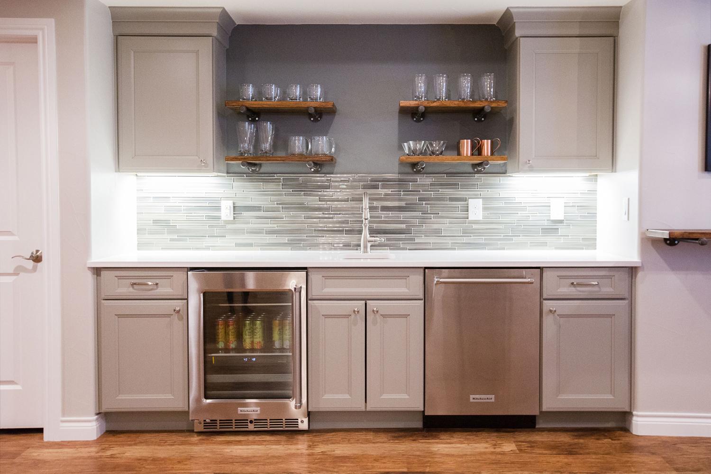 Georgeson Style Basement: Kitchen Bar