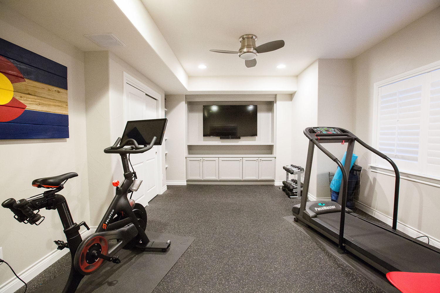Georgeson Style basement design fitness room