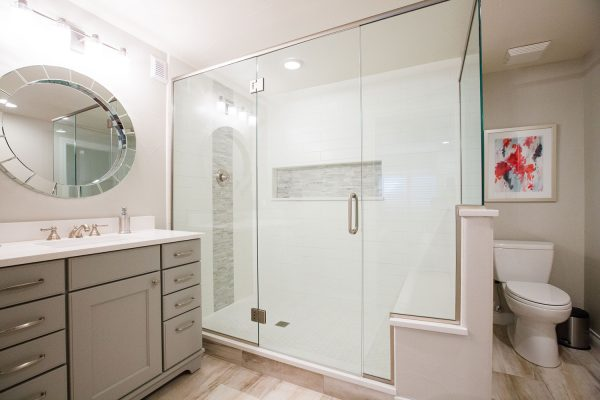 Georgeson Style glass shower