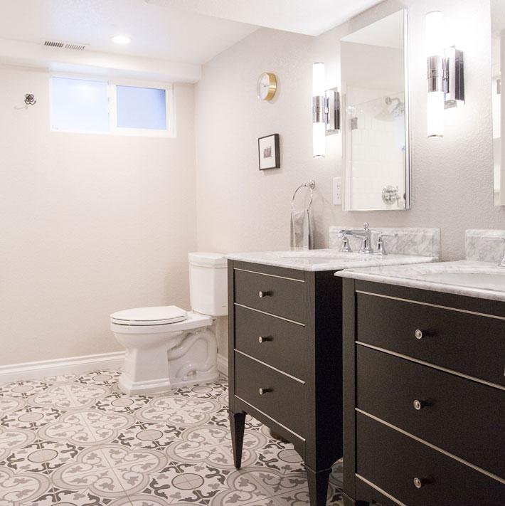 Georgeson Style Wash Park Basement Bath