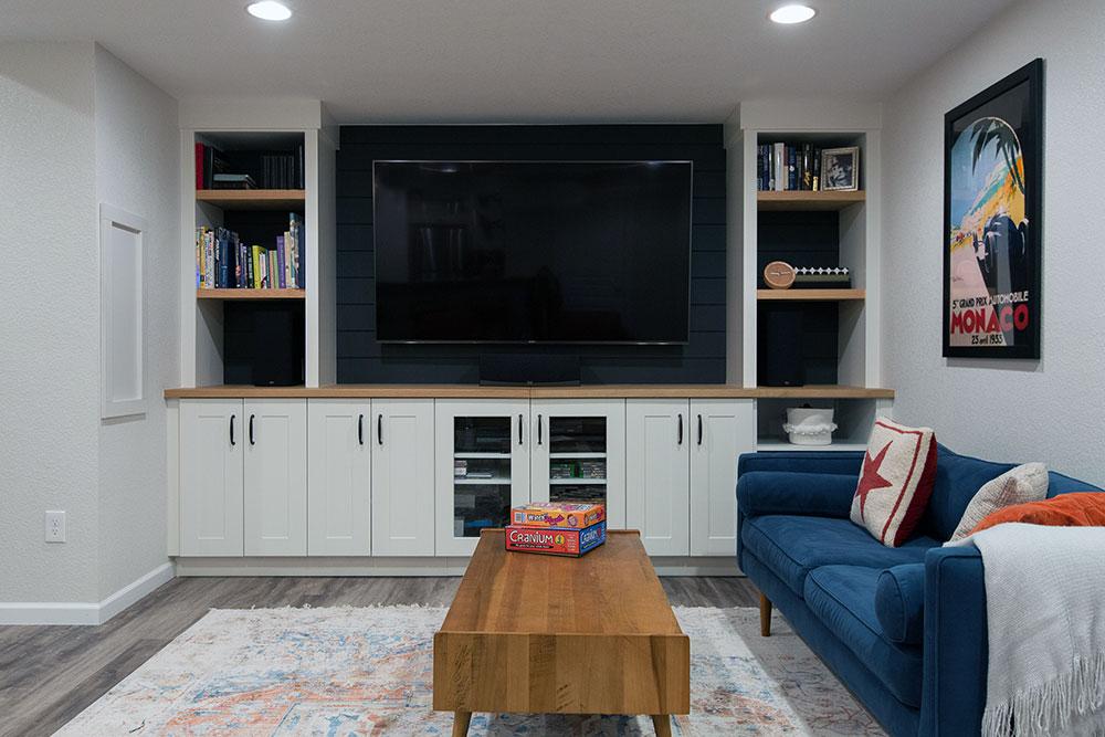 Geneva Basement Remodel: TV Area