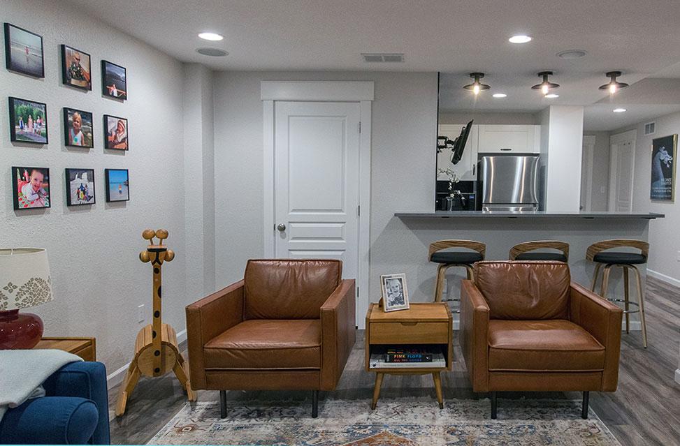 Geneva Basement Remodel: Family Room