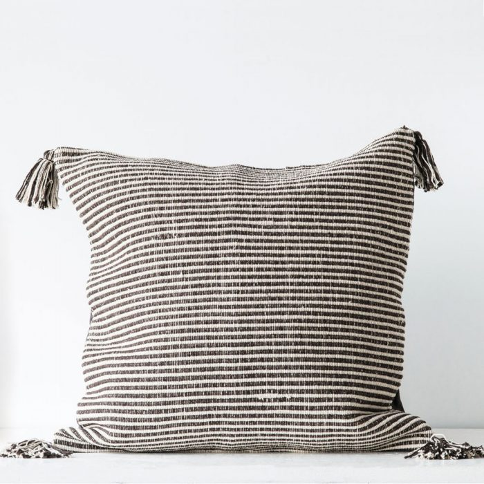 Kyndred Tassle Pillow Brown
