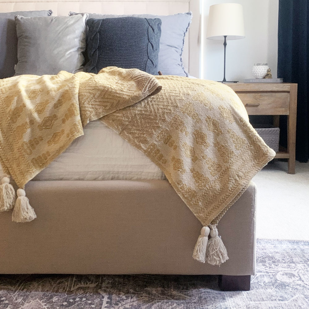 Kyndred Mustard Throw Blanket