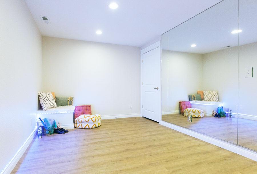 Chitwood Basement Remodel: Yoga Studio