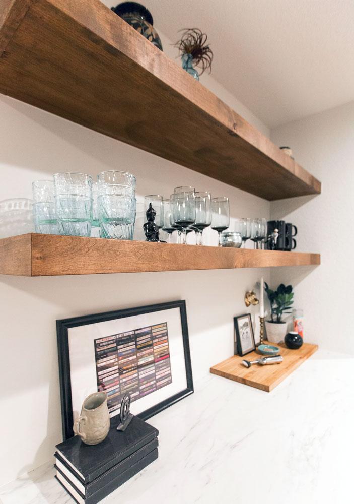 Chitwood Basement Remodel: Bar Shelving