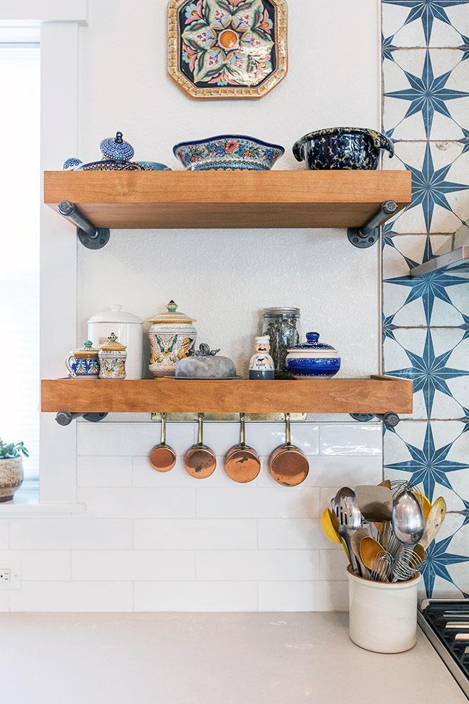 Kelly Kitchen Remodel: Custom Shelving