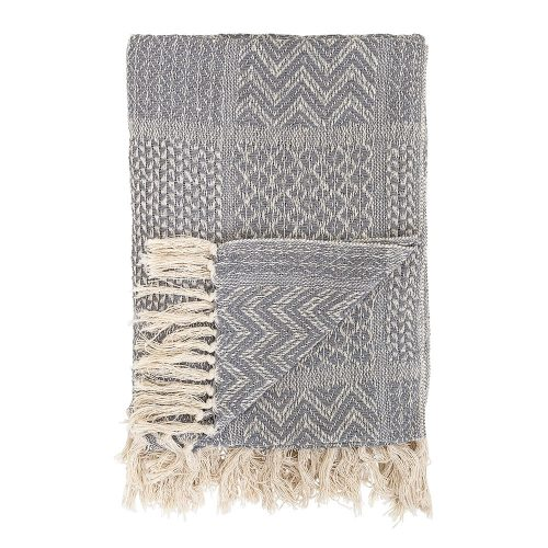 charcoal and cream throw