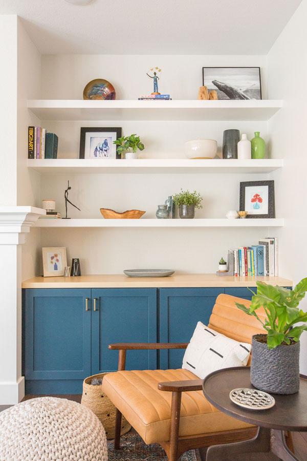 Berman Living Room Custom Shelves