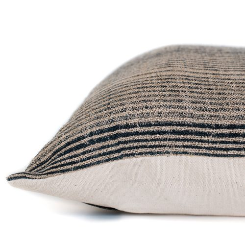 pillow cover: shades of night stripes