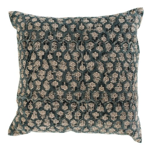 pillow cover: teal floral